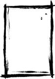 Voller schwarzer gemalter Rand lizenzfreie abbildung