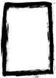 Voller schwarzer gemalter Rand Stockfotos