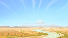 Voller Tag in der Wüste lizenzfreie abbildung