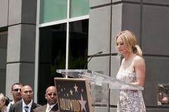 Vollerer Hollywood Weg Simon-der Ruhm-Stern-Zeremonie lizenzfreie stockfotografie