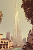 Volles Bild schoss von AL-BURJ KHALIFA, Dubai, UAE am 28. Juni 2017 Lizenzfreies Stockbild