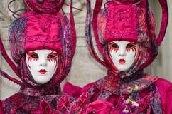 Volles dekoratives Kostüm im Venedig-Karneval Stockbilder