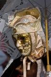 Volles dekoratives Kostüm im Venedig-Karneval Lizenzfreie Stockfotografie