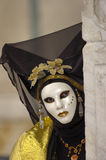 Volles dekoratives Kostüm im Venedig-Karneval Lizenzfreies Stockfoto