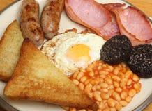 Volles Englisch Fried Cooked Breakfast Lizenzfreie Stockfotos