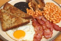 Volles Englisch Fried Cooked Breakfast stockbilder