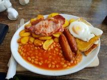 Volles englisches Frühstück stockfotos
