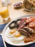 Volles englisches Frühstück Lizenzfreie Stockbilder
