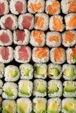 Volles Feld der Sushi Lizenzfreie Stockfotos