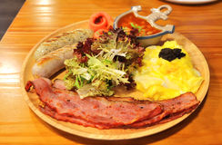 Volles Frühstück Stockbild