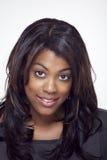 Volles Gesicht der schönen ethnischen Frau lizenzfreie stockbilder