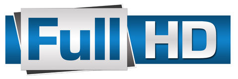 Volles HD-Blau Grey Button Style Stockbilder
