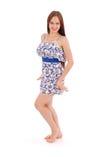 Volles Körperporträt der jungen Frau im Kleid Lizenzfreie Stockfotografie