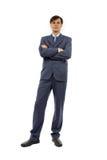 Volles Karosserienportrait des Geschäftsmannes stockfoto