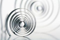 Volles Metall verdreht stockbilder