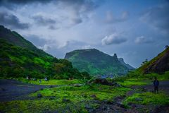 Volles scape Land der Schönheit mit Natur Stockbilder