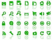 Volles Set Ikonen des Webs 3d stock abbildung