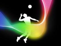 volley αφισών σφαιρών Στοκ Εικόνες