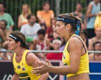 volley ομάδων παραλιών νικητής Στοκ φωτογραφίες με δικαίωμα ελεύθερης χρήσης
