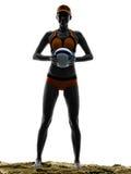 Volley παραλιών γυναικών σκιαγραφία φορέων σφαιρών Στοκ φωτογραφίες με δικαίωμα ελεύθερης χρήσης