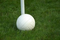Volley Ball. White volleyball resting in the grass Stock Images