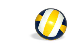 Volley Ball. Blue & yellow ball Stock Photo