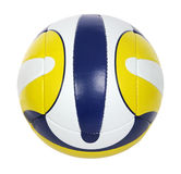Volley-ball ball. Dark blue, yellow volley-ball ball on the white background. (isolated Royalty Free Stock Photos