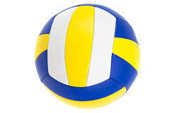 Volley-ball ball, isolated. On white royalty free stock images