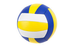 Volley-ball ball, isolated. On white Stock Photos