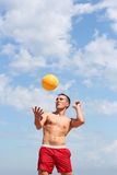 Volley-ball on the beach Royalty Free Stock Images