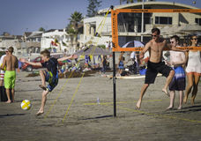 Volley Ball on the Beach, Del Mar, California Royalty Free Stock Image