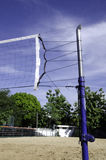 Volley ball court. Mesh stretched on the sand volley ball court Royalty Free Stock Images