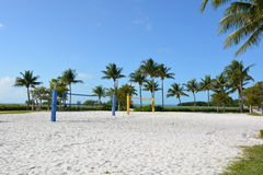 Volley Ball Court Stock Photo