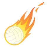 Volley Ball in Fire. Vector illustration of a Volley Ball in Fire isolated on white Stock Image
