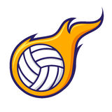 Volley Ball With Flames Icon Symbol Stock Photography