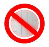 Volley ball forbidden sign Royalty Free Stock Photos