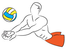 Volley Ball - Men Royalty Free Stock Photos