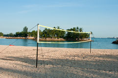 Volley Ball Net Stock Photo