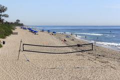 Volley Ball Net and Boca Raton Beach Royalty Free Stock Images