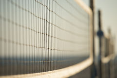 Volley ball nets. At a beach with selective focus Royalty Free Stock Image