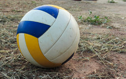 Volley ball. Is placed on the ground Royalty Free Stock Photo