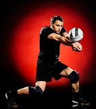 Volley ball player man isolated Royalty Free Stock Images