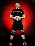 Volley ball player man isolated Stock Photos