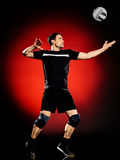 Volley ball player man isolated Stock Photography