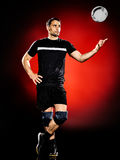 Volley ball player man isolated Stock Images