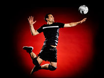 Volley ball player man  Royalty Free Stock Images