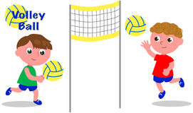 Volley ball players Royalty Free Stock Image