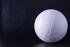 Volley ball sport. With black ground Stock Photography
