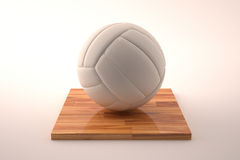 Volley ball on wood Stock Photo
