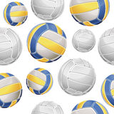 Volley Balls Seamless pattern. Royalty Free Stock Photos